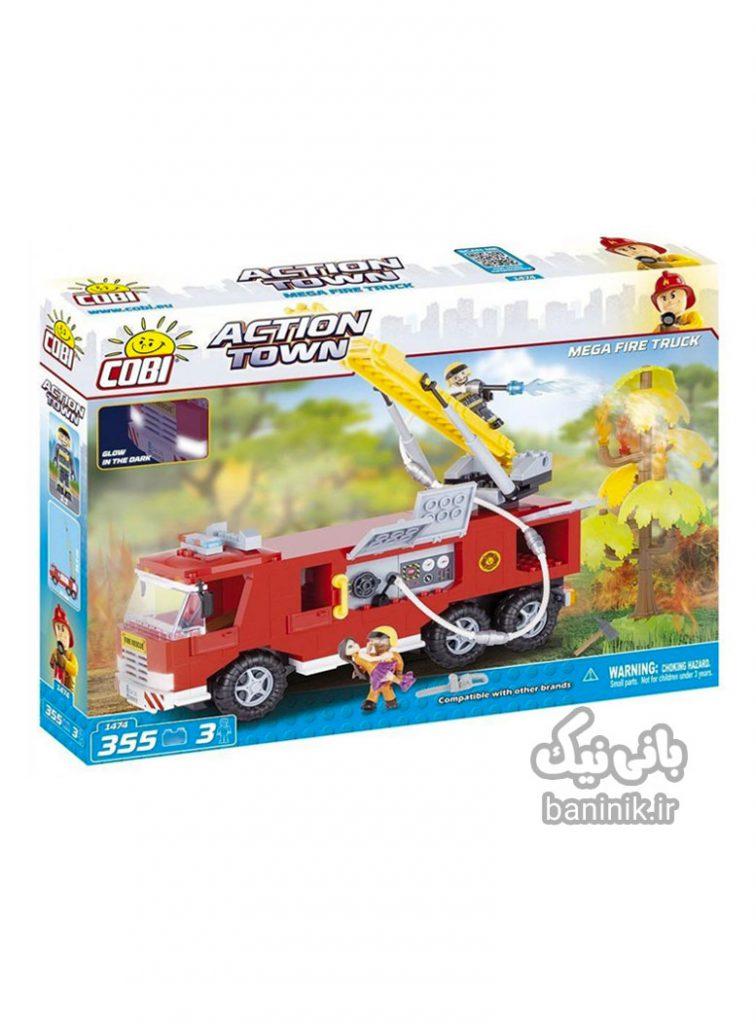 ماشین آتش نشانی کوبی ،لگو،خرید اسباب بازی درمشهد،خرید لگو ؛لگو دخترانه،لگو پسرانه،لگو کوبی, ساختنی, کوبی, لگو, لگو ماشین آتشنشانی بزرگ, ماشین آتشنشانی Action Town, Cobi, Cobi Action Town Mega Fire Truck