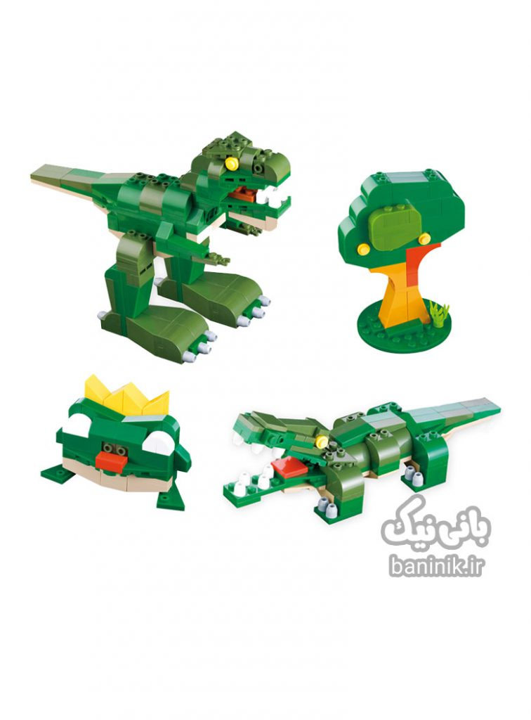 لگو دایناسور،لگوکوبی،ساخت و ساز،لگو تمساح،خریدکوبی،اسباب بازی کوبی،خرید اسباب بازی درمشهد،لگو چی بخرم،لگو250 قطعه ،بانی نیک LEGO,COBI,