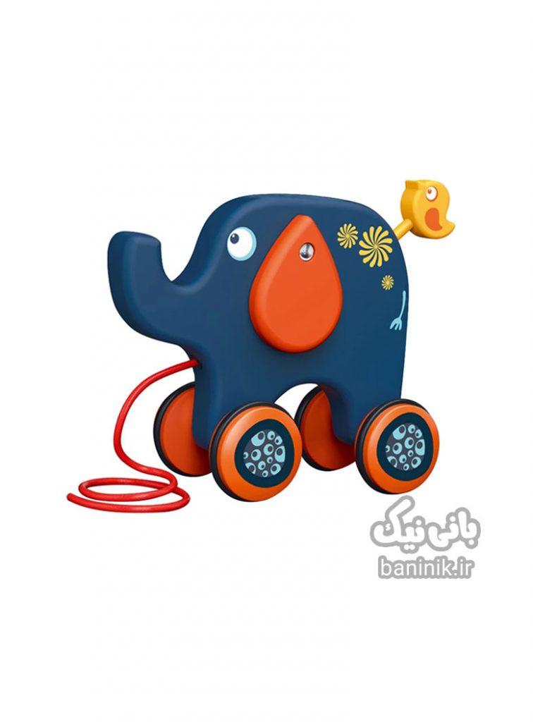 اسباب بازی نخ کش فیل،فیل اسباب بازی،اسباب بازی با نخ،عروسک فیل،عروسک نخ کش، ،مشهد Toy Elephant