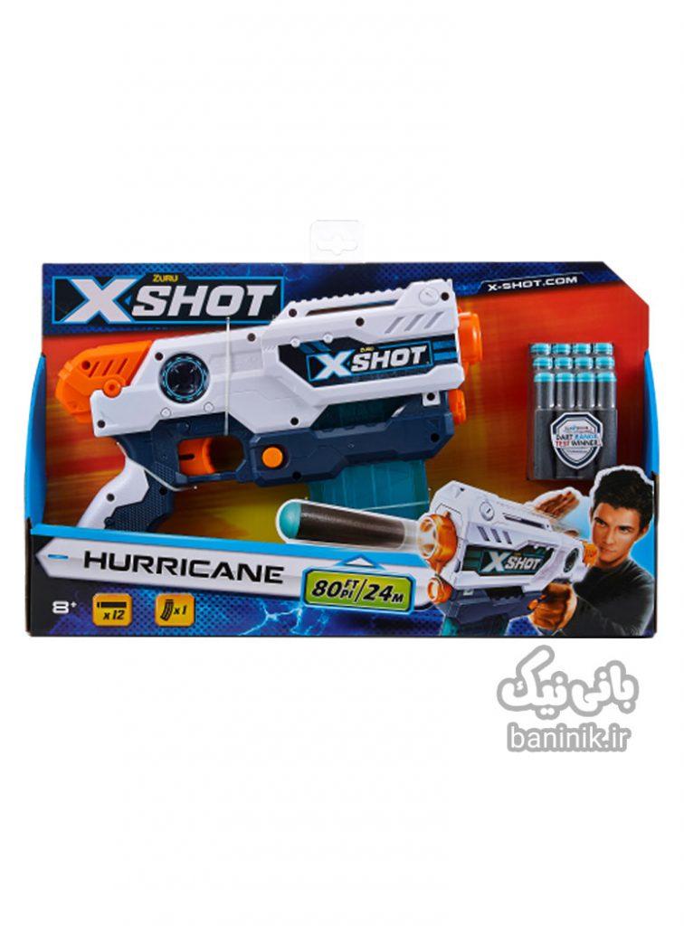 تفنگ اکس شاتX-Shotمدل هاریکان Hurricane ،ایکس شات،اکس شات ،تفنگ xshot،،تفنگ زورو،خرید اسباب بازی در مشهد ،خریدتفنگ،تفنگ اسباب بازی Hurricane,xshot,zuru