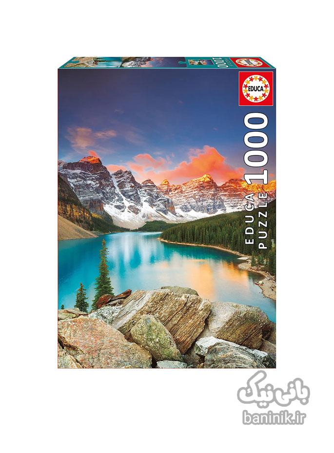 پازل 1000 تکه ادوکا طرح دریاچه مورین در پارک ملی بنف ، کانادا Educa Lake Maureen in Banff National Park , Canada Puzzle،پازل،ادوکا، پازل 1000 تکه،پازل خوب،پازل نوجوان،پازل چی بخرم،, کادو پازل Educa,Puzzl