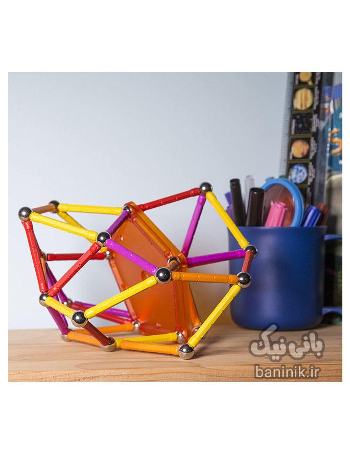 ساختنی مگنت ژيومگ،مدلسازی،اسباب بازی دخترانه،اسباب بازی پسرانه،خرید انلاین،خرید اسباب بازی در مشهد،مدلسازي مگنت ژيومگ مدل Geomag Color